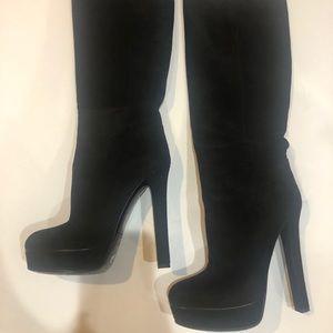 Gucci Women's Suede Platform Boots